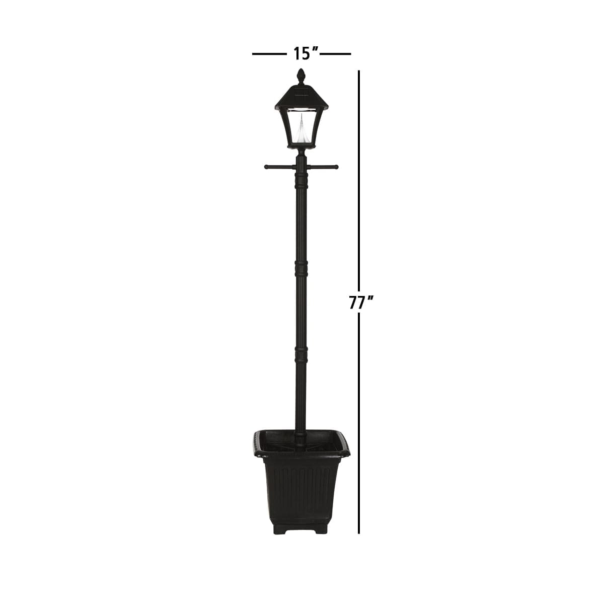 Baytown Solar Lamp Series by Gama Sonic GS-106PL Measurements