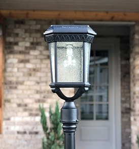 Gama Sonic Colonial Solar Post Light GS-18F