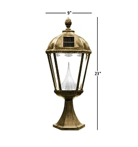 Royal Solar Lamp by Gama Sonic GS-98P Measurements