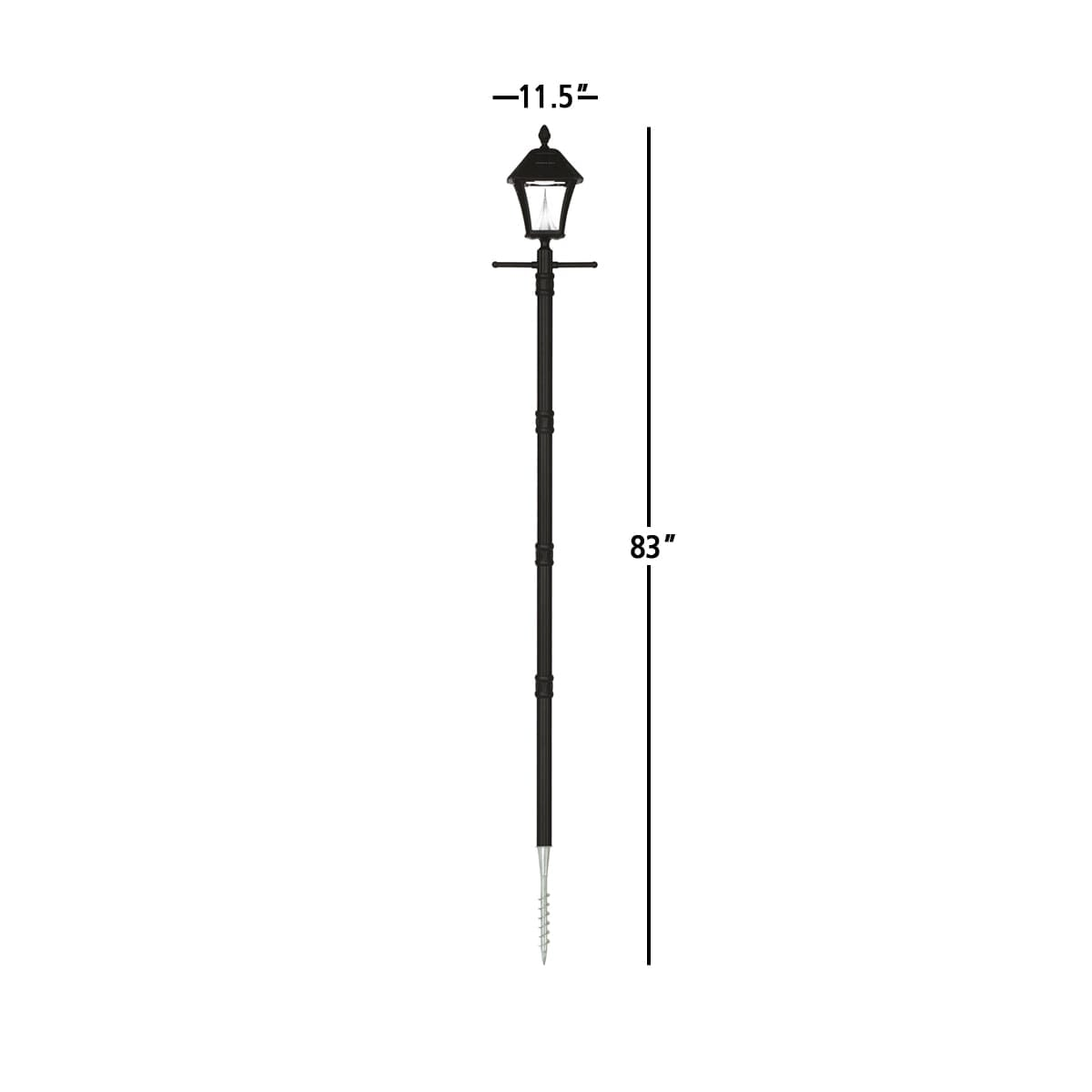 Baytown Solar Lamp Series by Gama Sonic GS-106S-G Measurements
