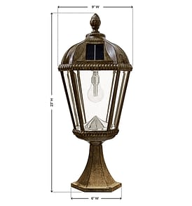 Royal Bulb Pier Mount Solar Lamp - 98B311