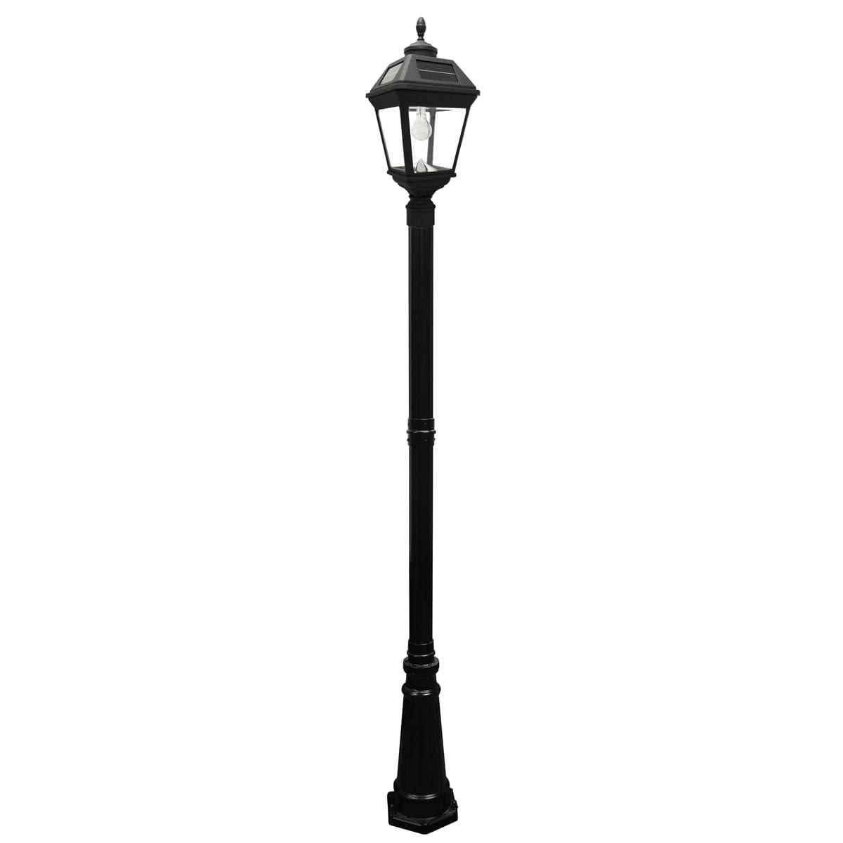 IMPERIAL Bulb Solar Lamp and Single Lamp Post with GS-Solar LED Light Bulb GS-97B-S