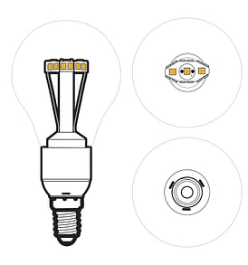 Solar LED Light Bulb A60 - Top View
