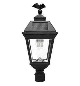 Imperial Bulb Solar Lamp 3 inch Pole Mount with 3 GS Solar LED Light Bulbs GS-97B3-F by Gama Sonic