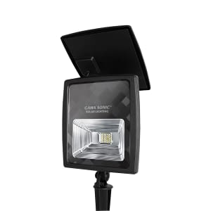 Solar Powered Outdoor Flood Light by Gama Sonic Solar Lighting