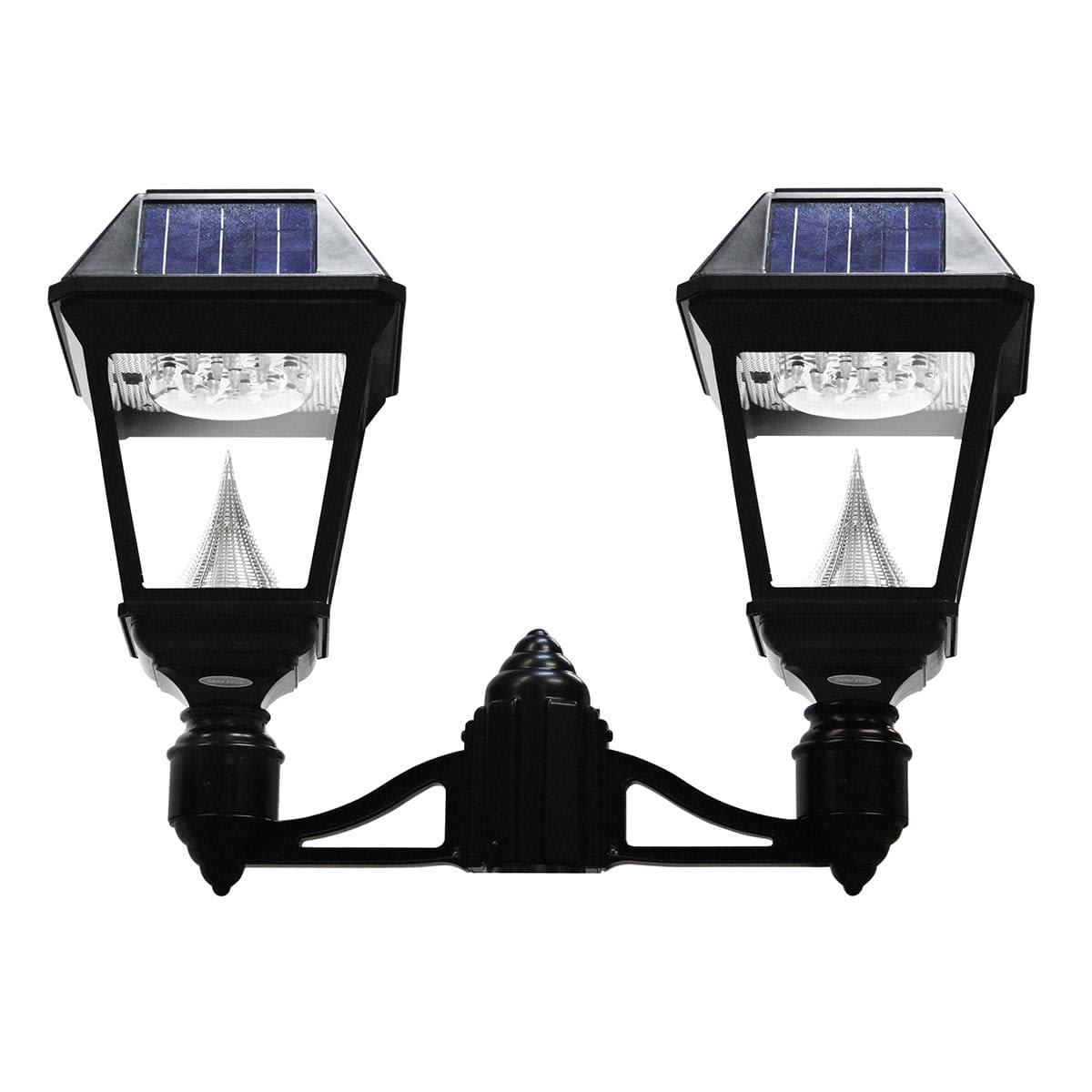 Gama Sonic Imperial II Series - Double Head Solar Post Light GS-97NF2