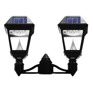 Gama Sonic Imperial II Series - Double Head Solar Post Light GS-97NF2 - How to Replace an Existing Gas Lamp with a Solar Post Light