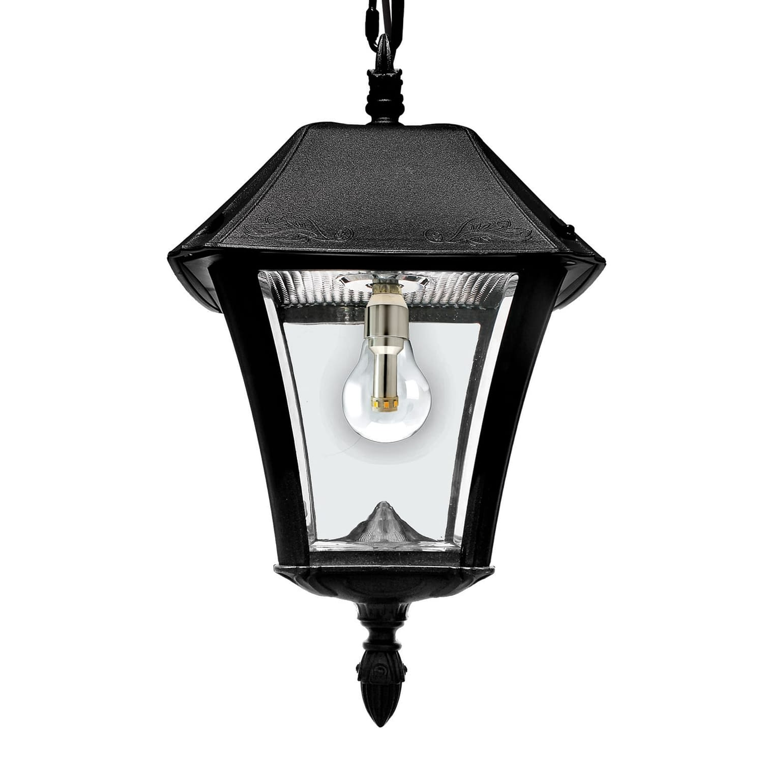 Baytown II Bulb Solar Hanging Light GS-105B-CX By Gama Sonic