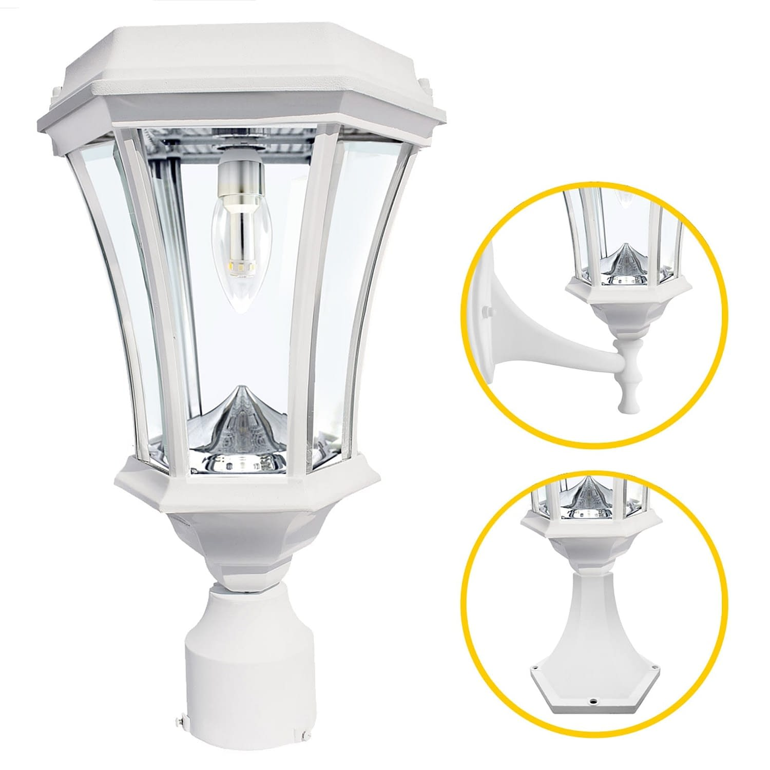 victorian bulb solar light GS-94B-FPW-White
