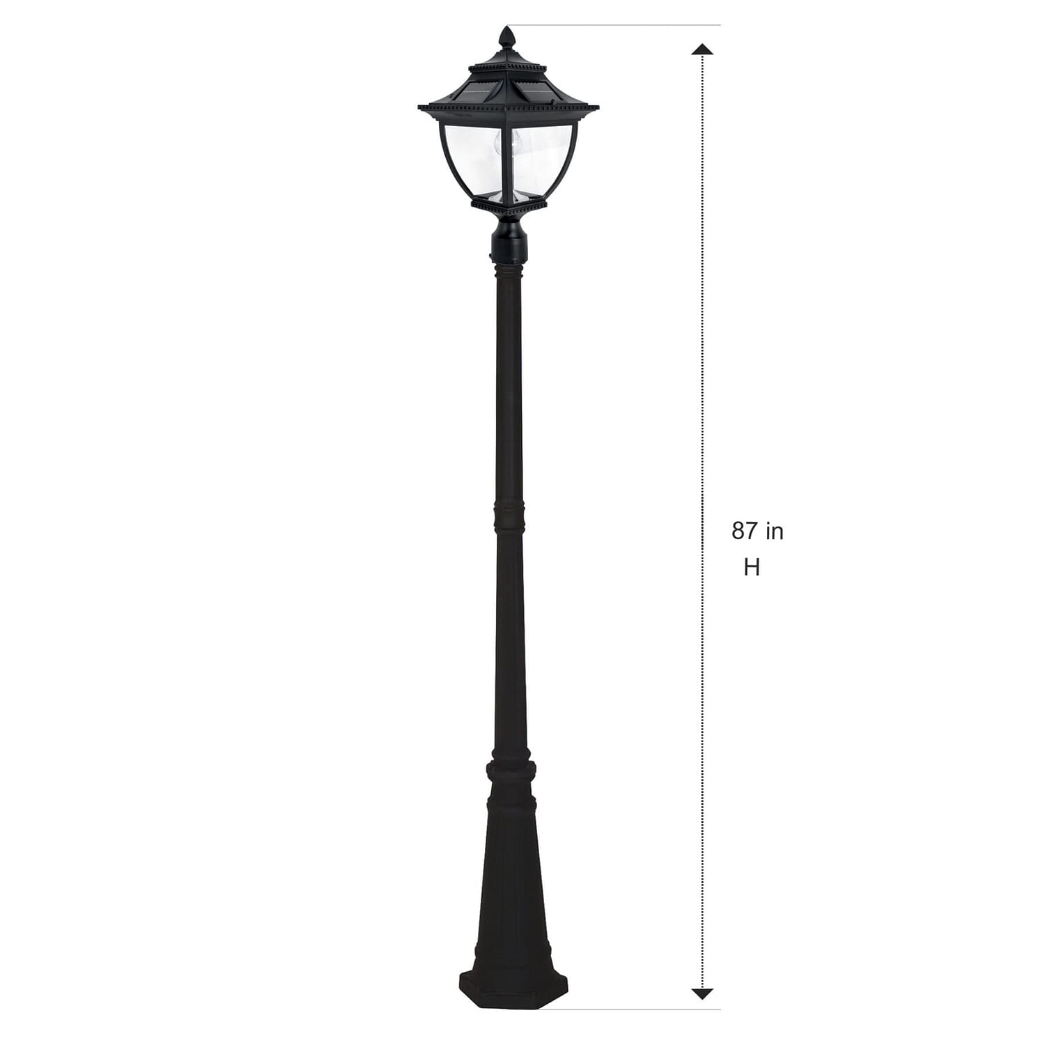 Pagoda Bulb Solar Lamp Post GS-104B-S