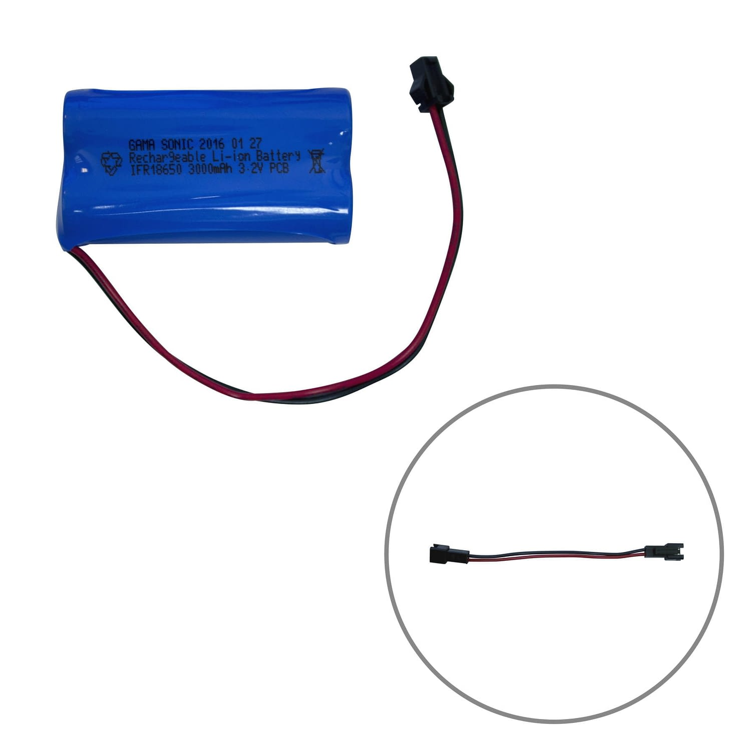 Gama-Sonic-Battery-Li-ion_3.2V_3000mAh_with Connector