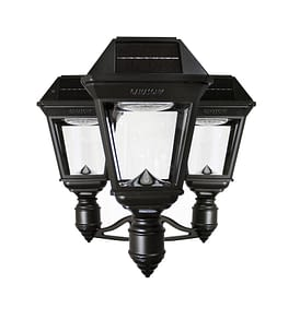 Imperial III Commercial Solar Triple Post Light with Dual Color Temperature