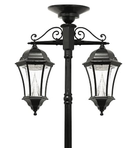 Victorian Solar Lamp Post by Gama Sonic GS-94C-D Double Downward Hanging Solar Lamp Post