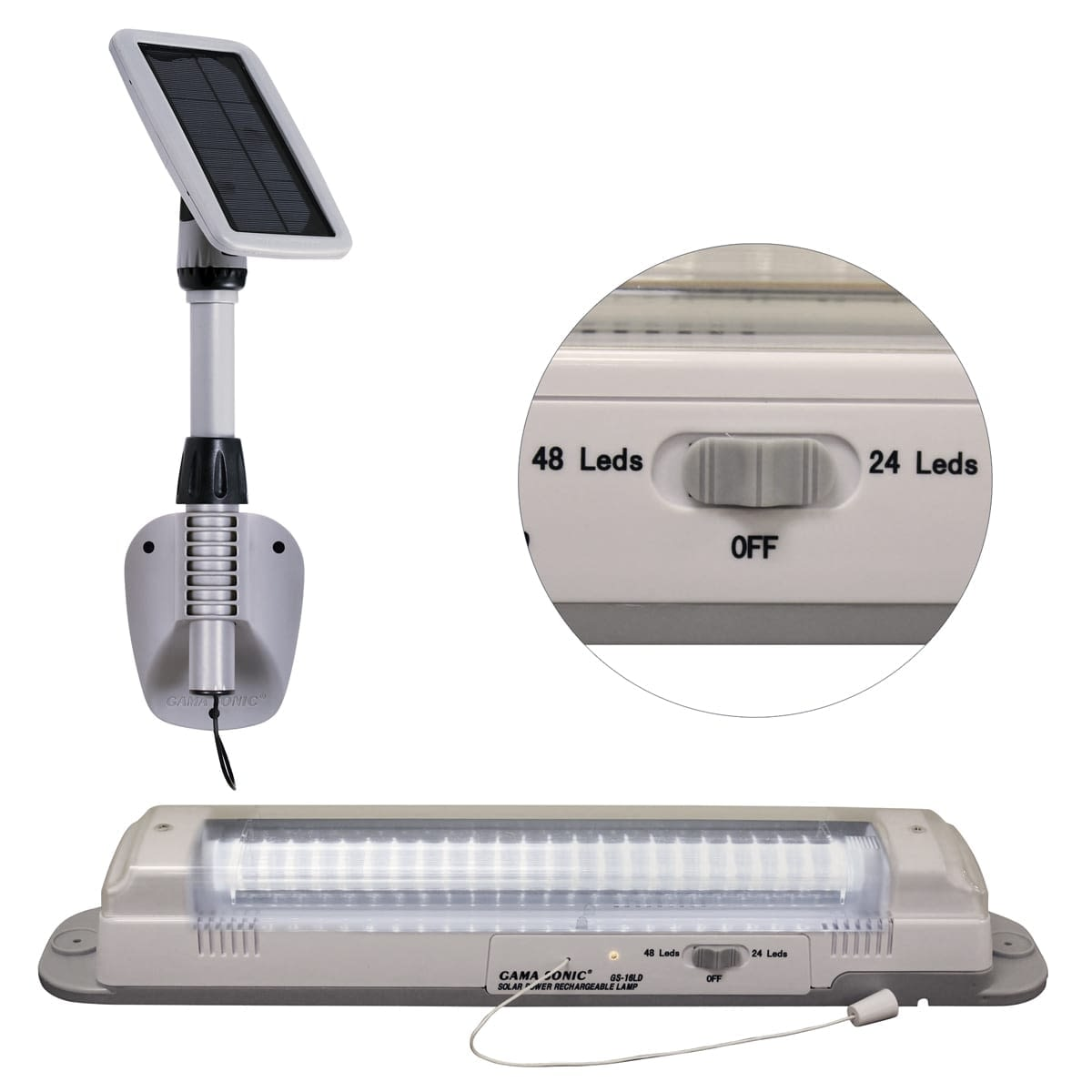 Solar Powered Shed Light-Light My Shed III-GS-16LD By Gama Sonic
