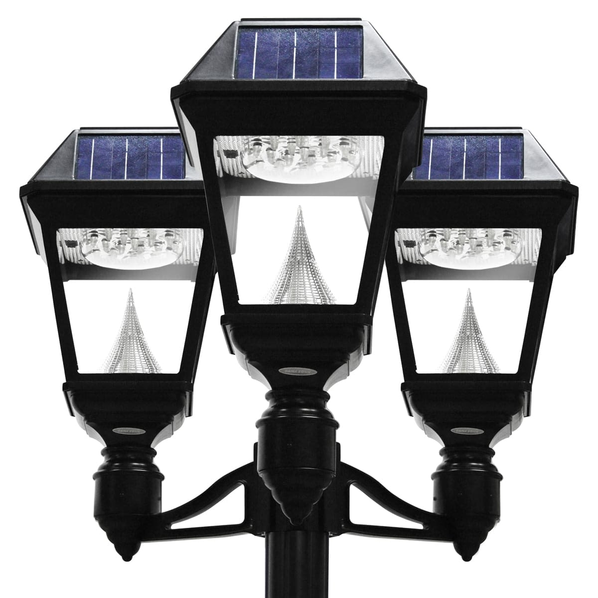 Gama Sonic Imperial II Series – Triple Solar Lamp and Lamp Post GS-97NT