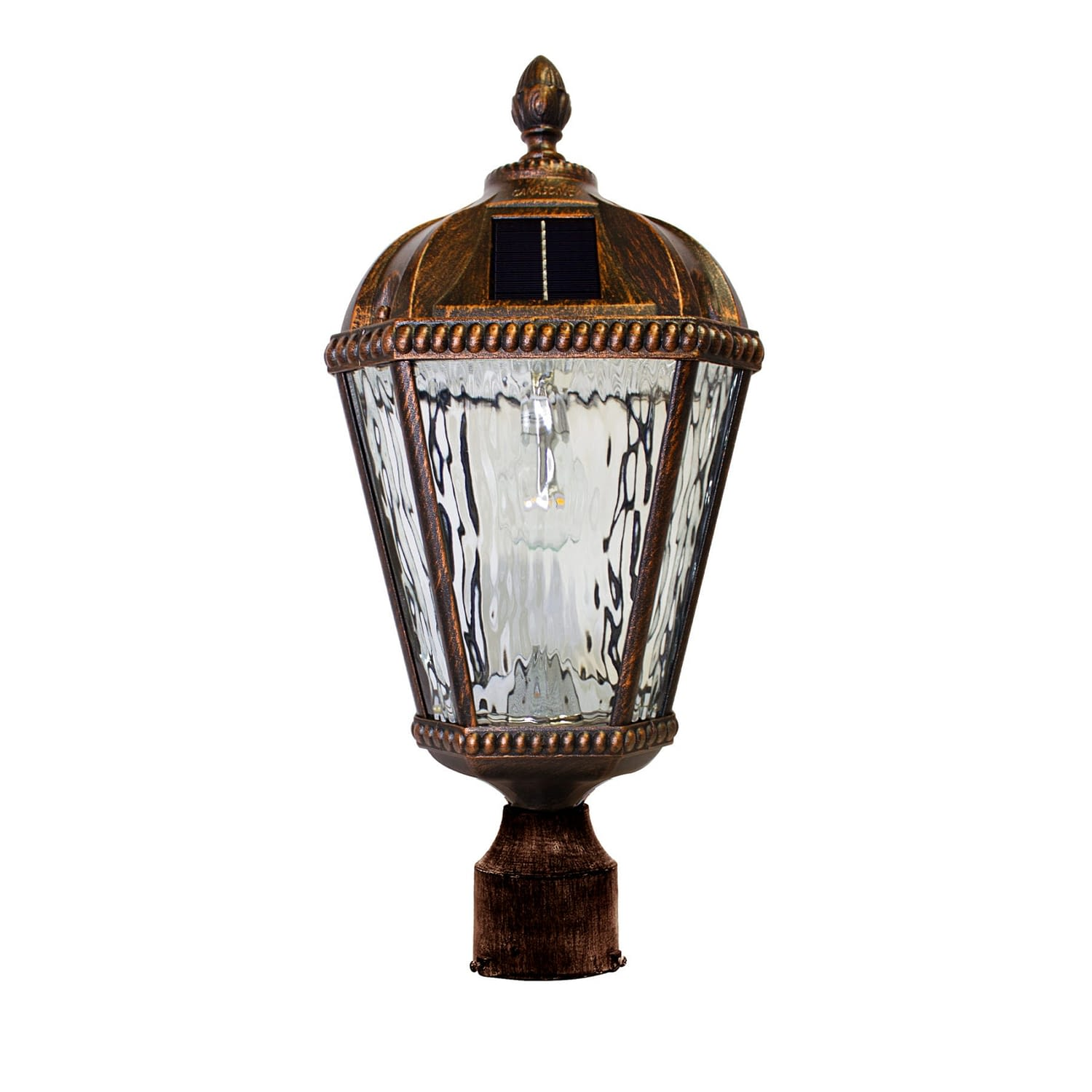 Royal Bulb 3″ Fitter Solar Lamp -Brushed Bronze