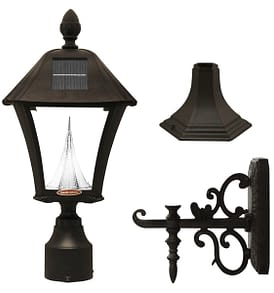 Baytown Solar Lamp Series by Gama Sonic GS-106FPW-B