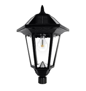 Gama Sonic Windsor Bulb Solar Lamp Post-GS-99B-S