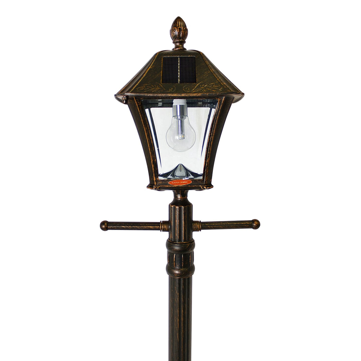 Baytown Bulb Solar Lamp Post with EZ-Anchor and Planter