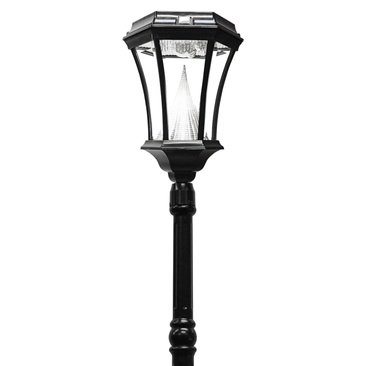 Victorian Solar Lamp Post by Gama Sonic GS-94S with Solar Motion Sensor