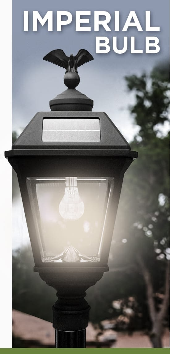 Imperial Bulb Solar Lamp By Gama Sonic