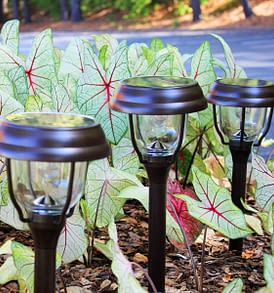 Solar Garden Lights with Dual Color Option by Gama Sonic GS-145