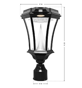 Victorian PIR Series – Solar Lamp With Motion Sensor GS-94PIR-F Measurements