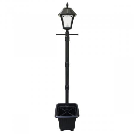 Baytown II Solar Lamp Post with EZ Anchor and Planter Base GS-105PLSG