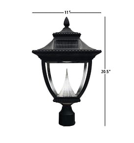 Pagoda Solar Lamp Post by Gama Sonic GS-104F Measurements