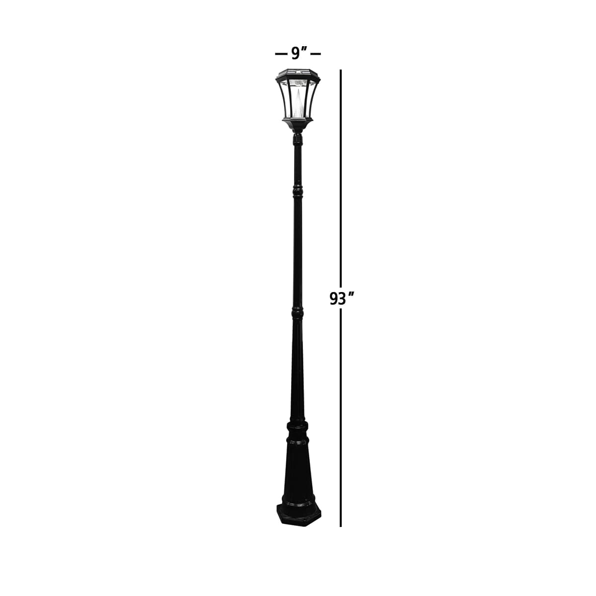 Victorian Solar Lamp Post by Gama Sonic GS-94S Measurements