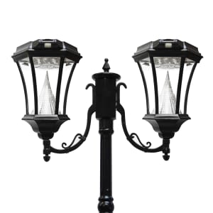 Victorian-Solar-Lamp-Post-by-Gama-Sonic-GS-94D-Double-Lamp-Post