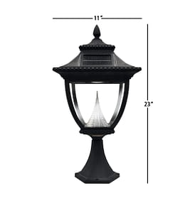 Pagoda Solar Lamp Post by Gama Sonic GS-104P Measurements
