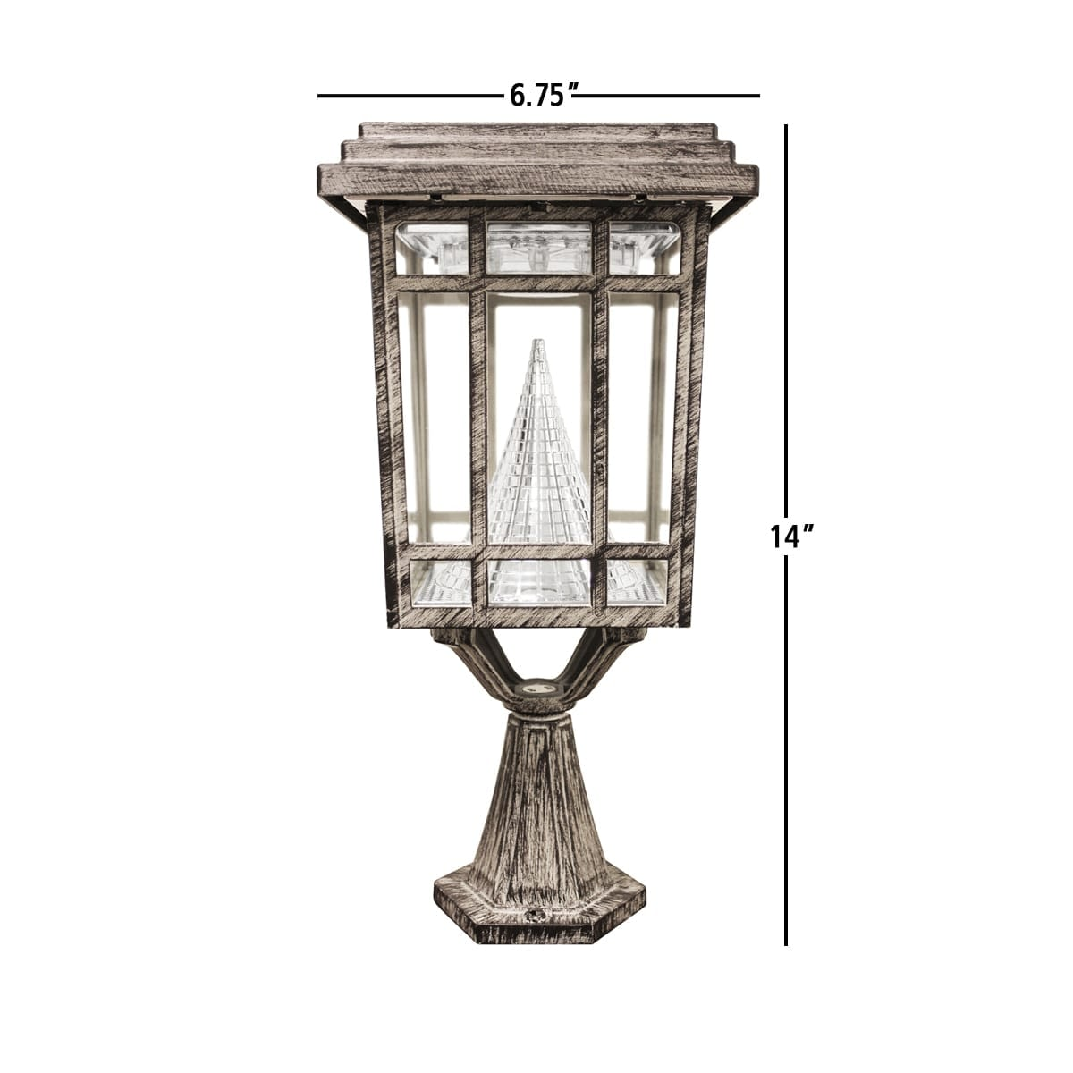 Prairie Solar Lamp by Gama Sonic GS-114P Measurements