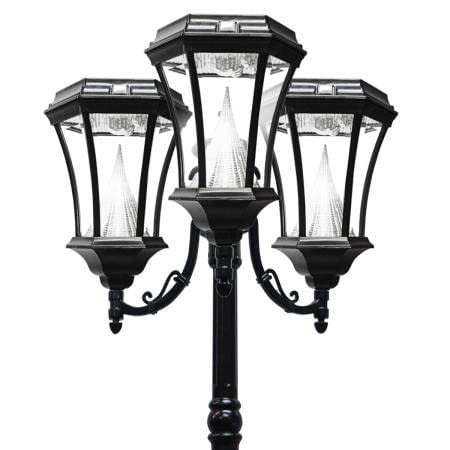 Victorian Solar Lamp Post by Gama Sonic GS-94T 3 Head Lamp Post