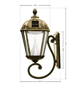 Royal Solar Lamp Series – Wall Mount GS-98W Measurements