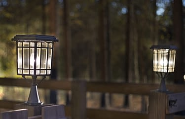 solar lighting for outdoor space