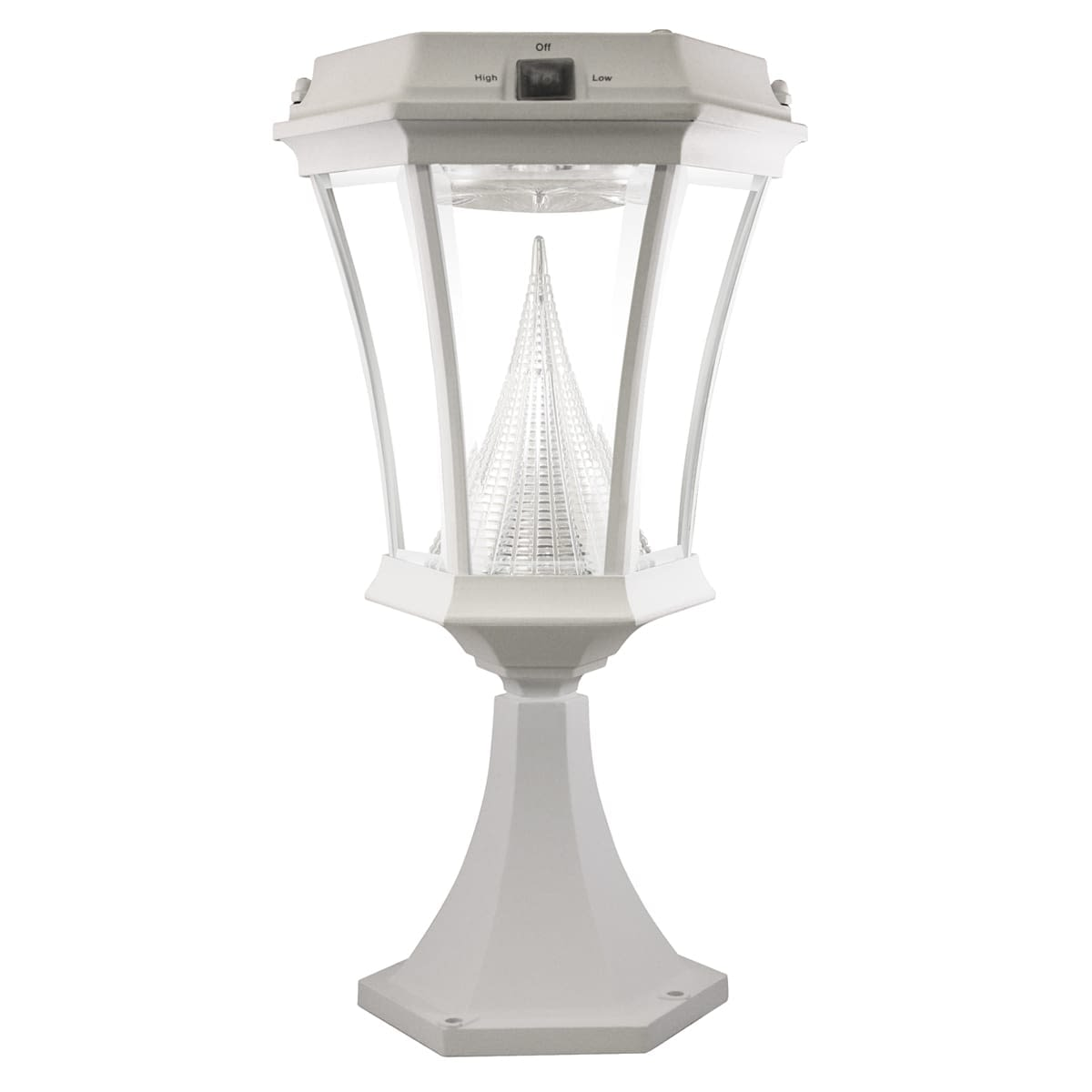 Victorian-Solar-Lamp-Post-by-Gama-Sonic-GS-94P-White