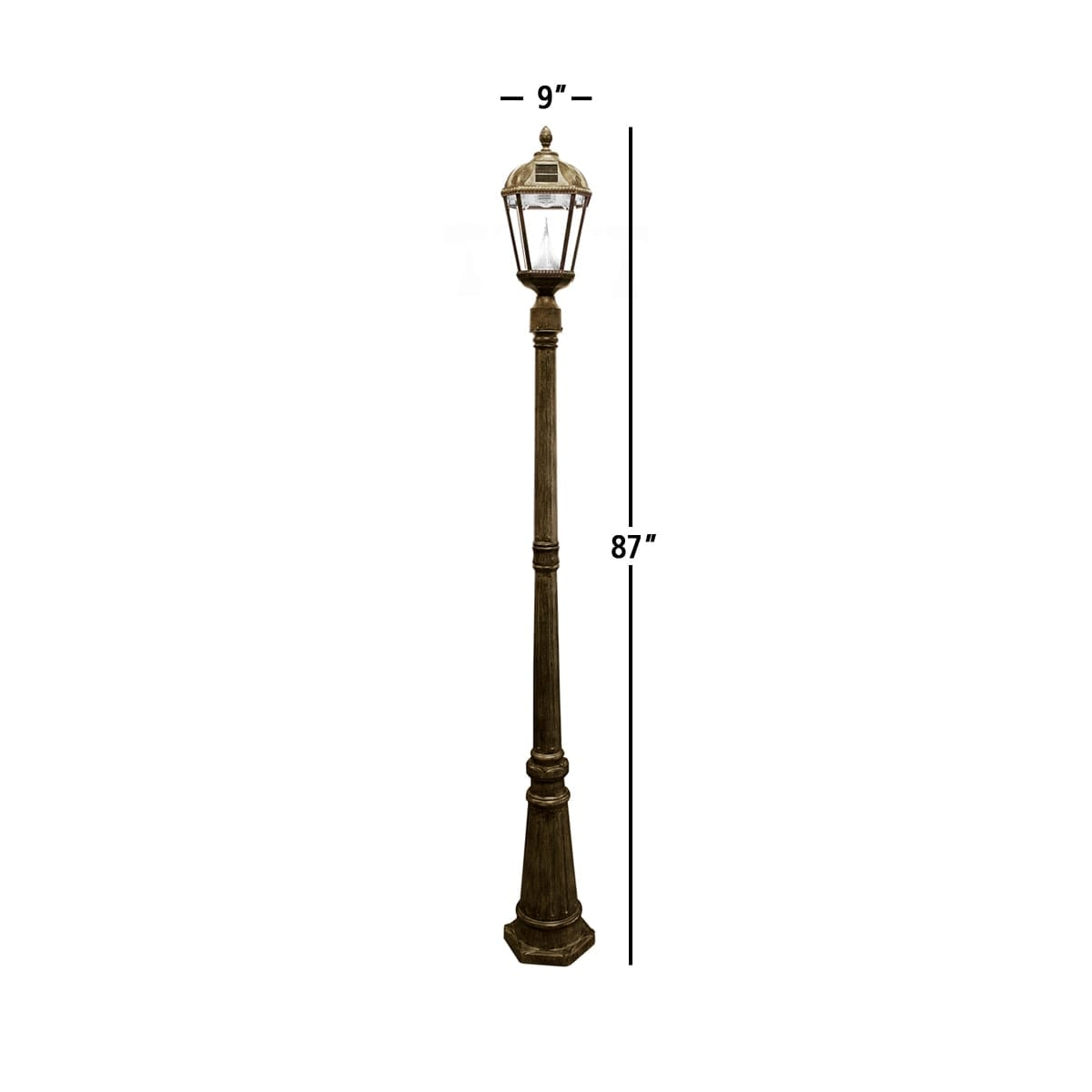 Royal Solar Lamp by Gama Sonic GS-98S-WB Measurements