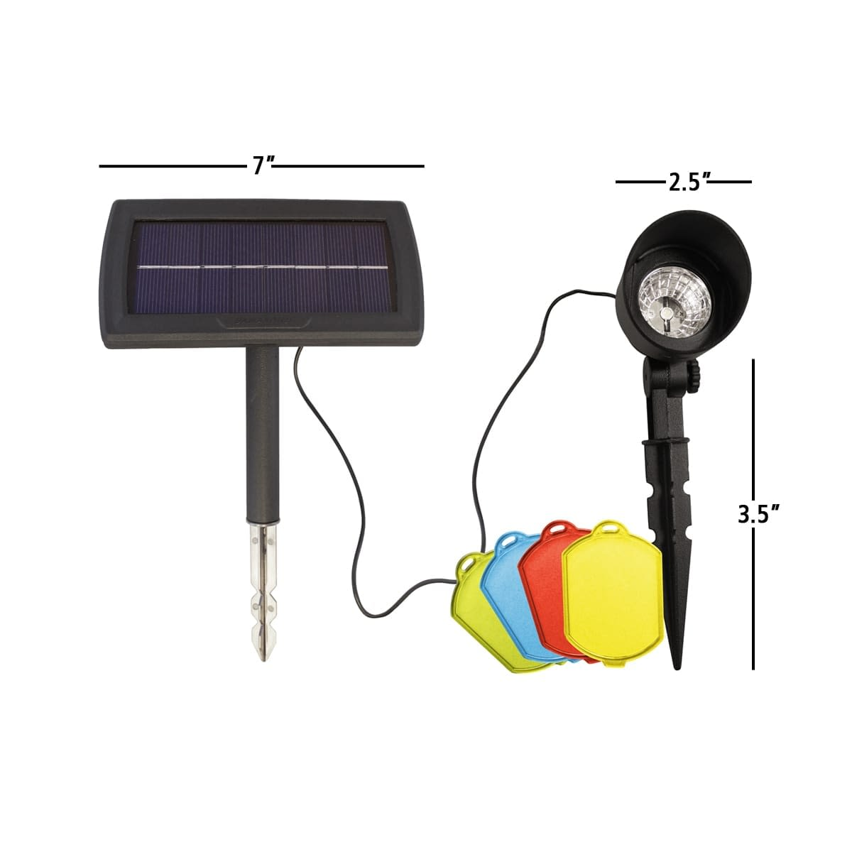 Solar Accent Spotlight with Color Changing Lenses By Gama Sonic GS-150