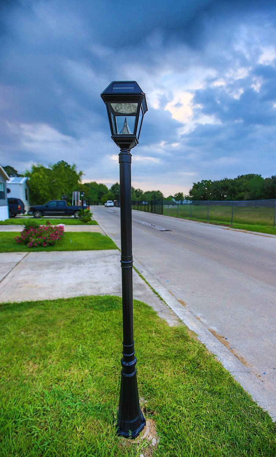 Imperial II Solar Lamp Post Application Mobile Home Park