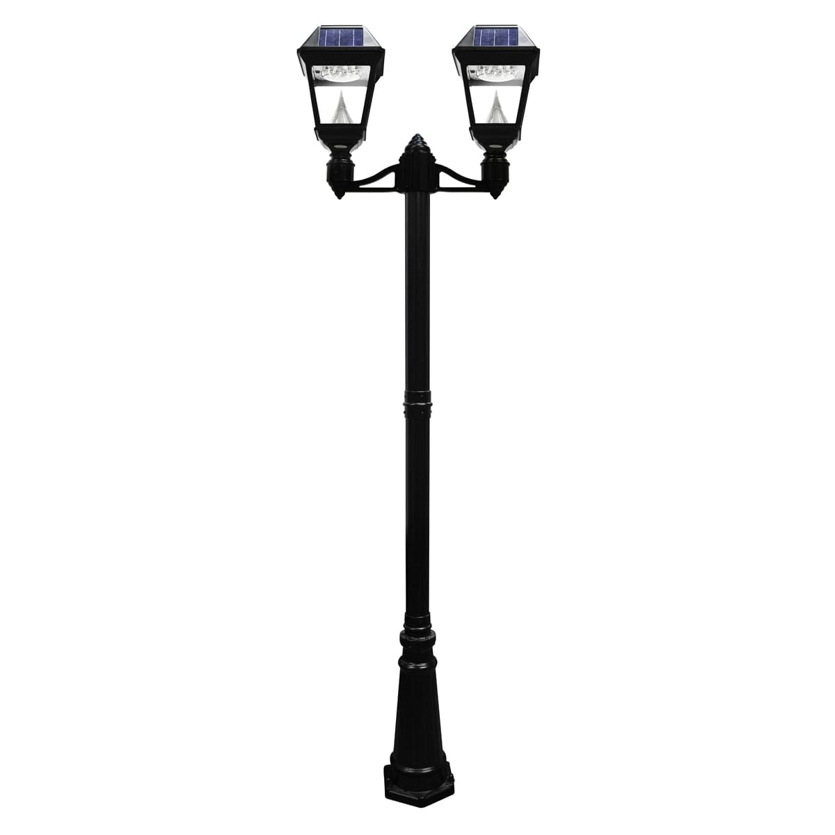 Gama Sonic Imperial II Series – Double Solar Lamp and Lamp Post GS-97ND