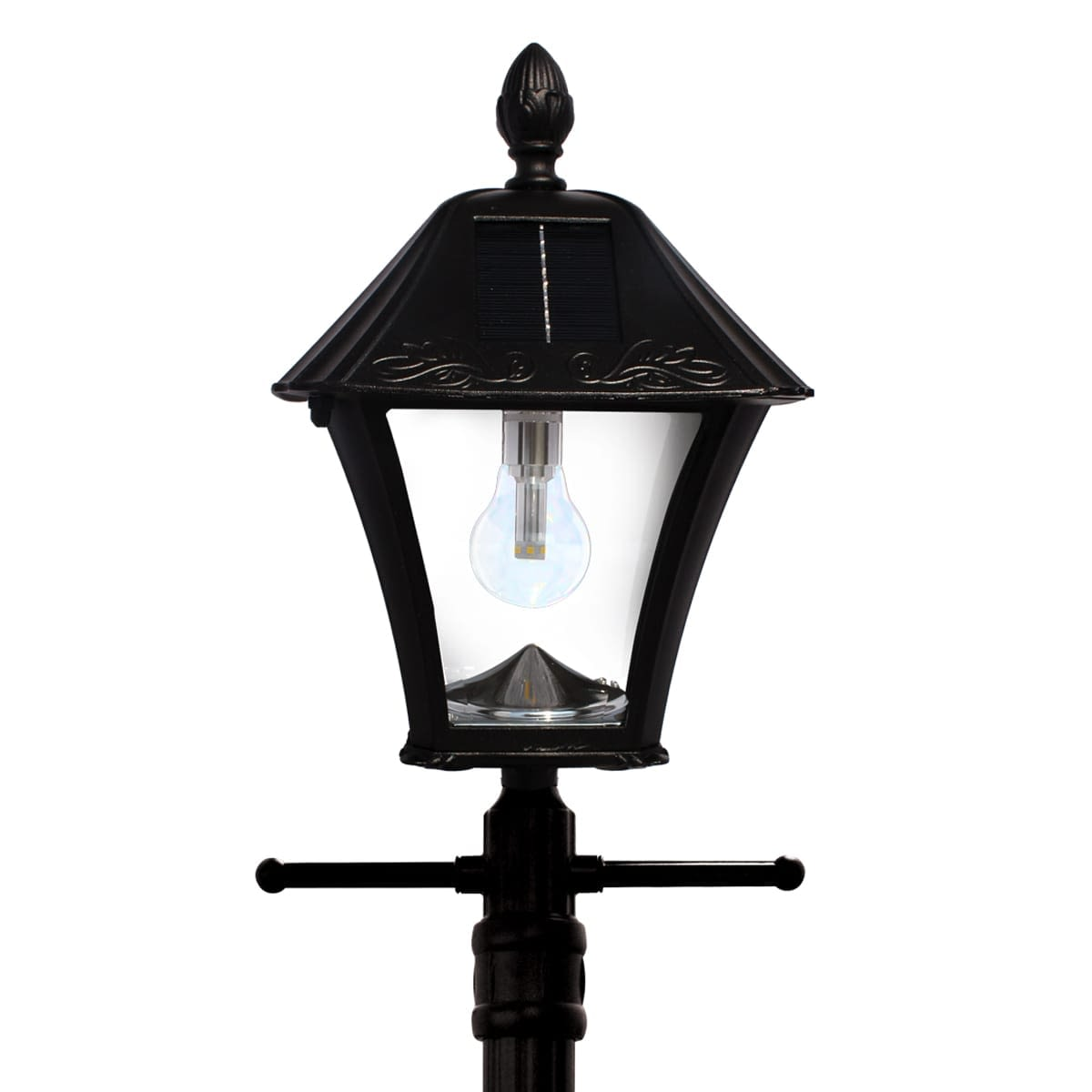 Gama Sonic Baytown Bulb Solar Lamp Post EZ-Anchor Planter GS-106B-PLSG by Gama Sonic 03