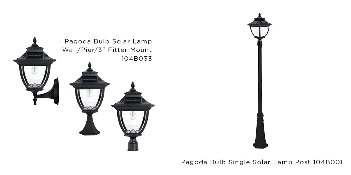 Solar Light Collections with Asian Influence