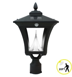 Weston Solar Lamp Post by Gama Sonic GS-52FPIR