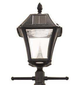 Baytown II Solar Lamp and Lamp Post With EZ Anchor by Gama Sonic GS-105S-G