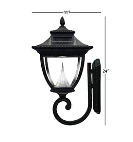 Pagoda Solar Lamp Post by Gama Sonic GS-104W Measurements