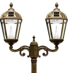 Royal Solar Lamp by Gama Sonic Double Lamp Post GS-98D