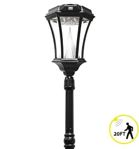Victorian Solar Lamp Post by Gama Sonic GS-94PIR-S with Solar Motion Sensor