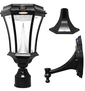 Victorian Solar Lamp by Gama Sonic GS-94FPW