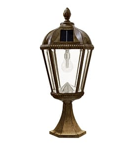 Royal Bulb Pier Mount Solar Lamp with GS-Solar LED Light Bulb GS-98B-P-WB